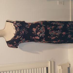 NWT ICE Formal Beaded Silk Floral midi dress